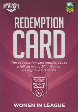 Women in League Redemption card