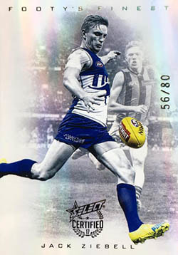 2017 Select AFL Certified Footy's Finest Refractor F13 Jack Ziebell