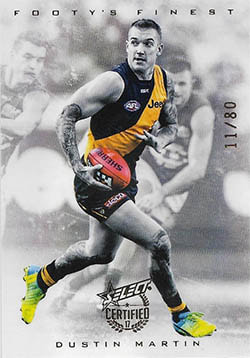 2017 Select AFL Certified Footy's Finest Refractor F15 Dustin Martin