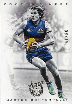 2017 Select AFL Certified Footy's Finest Refractor F18 Marcus Bontempelli