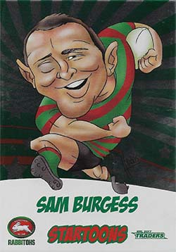 2017 NRL Traders Startoons Album Card
