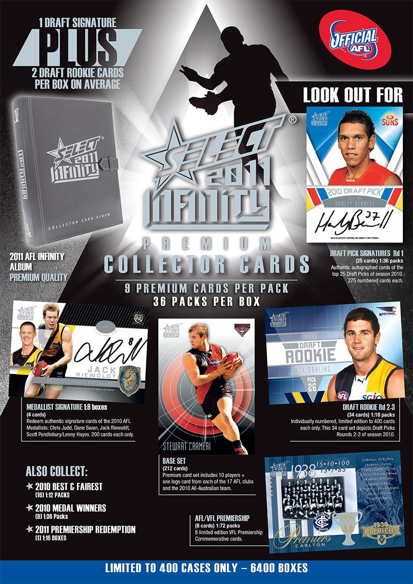 2011 Select AFL Infinity Trading Cards
