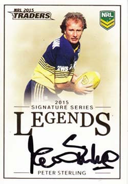 L6 Peter Sterling 2015 NRL Traders Legend Signatures