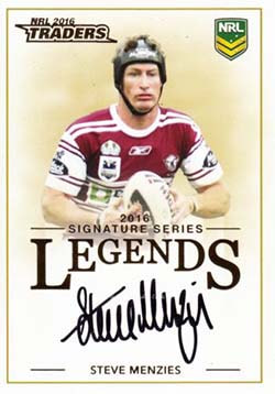 L8 Steve Menzies 2016 NRL Traders Legend Signatures