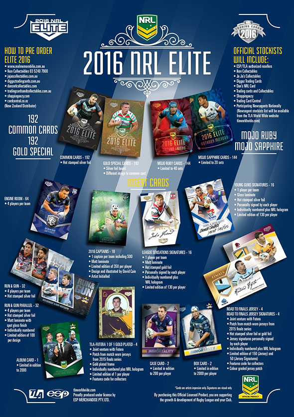 2016 ESP NRL Elite Trading Cards