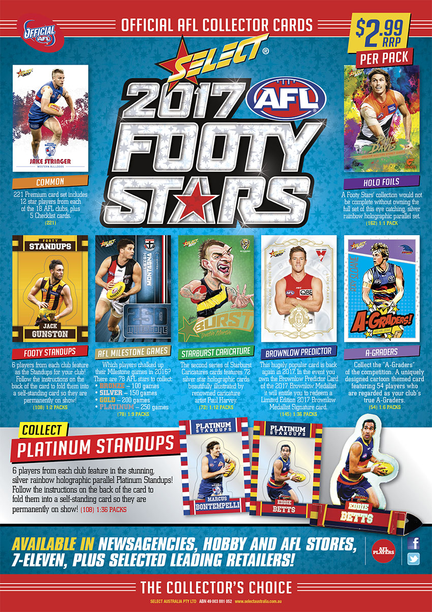 2017 Select AFL Footy Stars