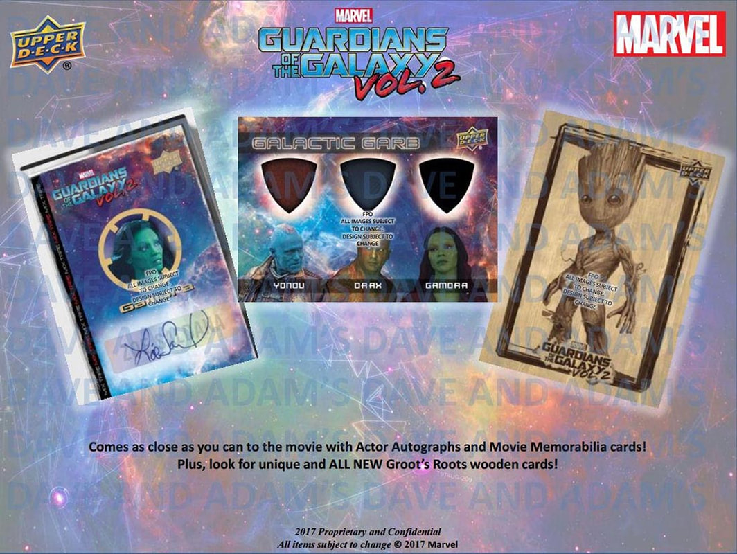 2017 Upper Deck Guardians of the Galaxy ​Volume 2