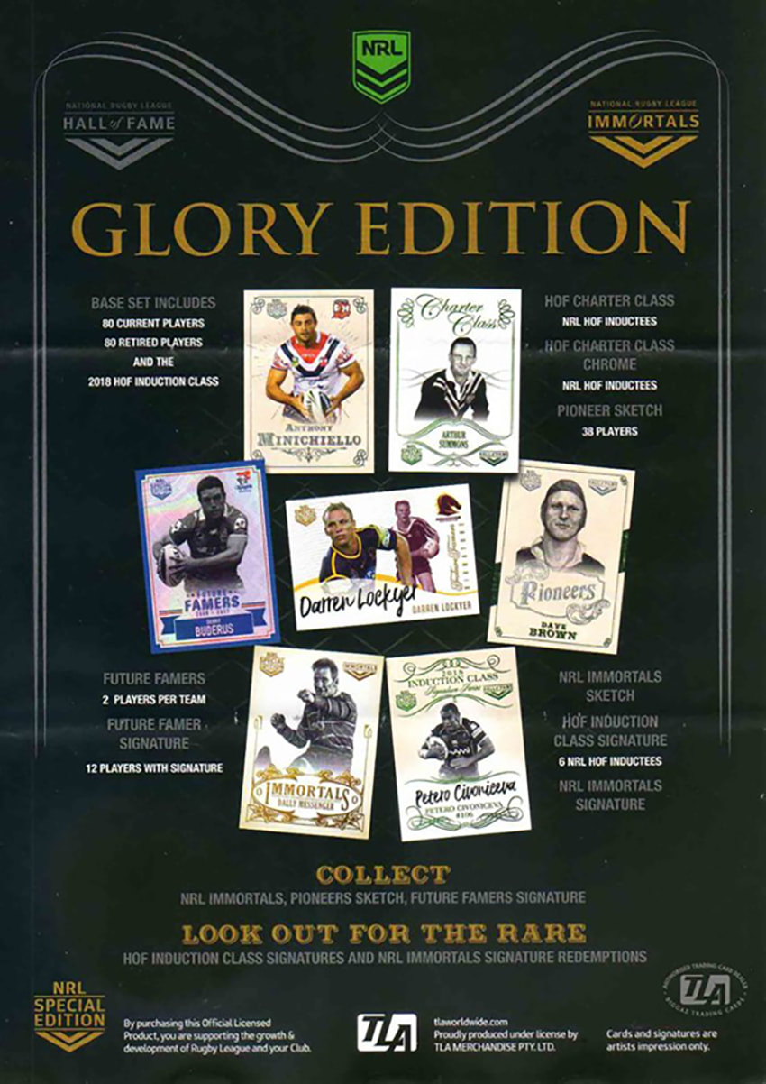 2018 TLA NR Glory Edition trading cards