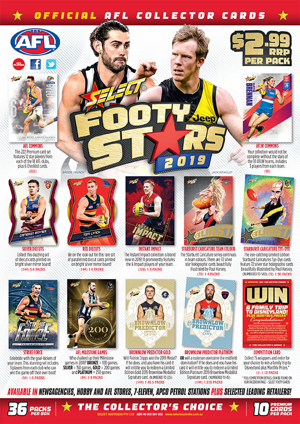 2019 Select AFL Footy Stars