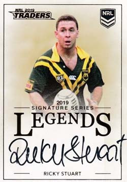 L14 Ricky Stuart 2019 NRL Traders Legends Signatures