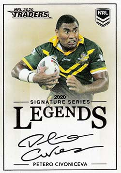 L16 Petero Civoniceva 2020 NRL Traders Legends Signatures