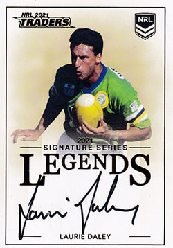 Laurie Daley 2021 NRL Traders Legend Signature Cards