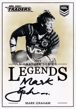 Mark Graham 2021 NRL Traders Legend Signature Cards