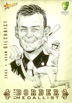 2008/09 Select Cricket Allan Border Medallist Sketch Card