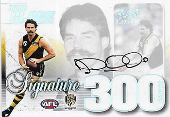 2018 Select AFL Legacy 300 Game Case Card Signature