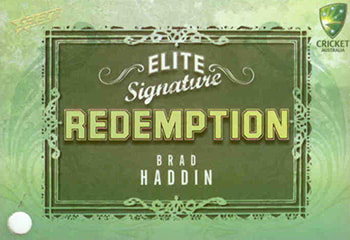 2009 / 2010 Select Cricket Elite Signature Redemption