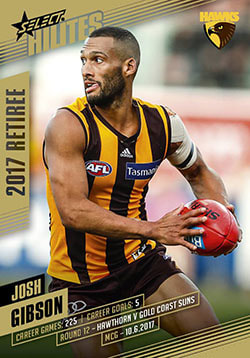 2017 Select AFL Hilites Josh Gibson Retirement