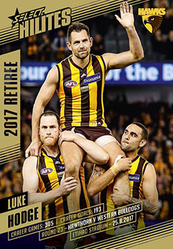 2017 Select AFL Hilites Luke Hodge Retirement