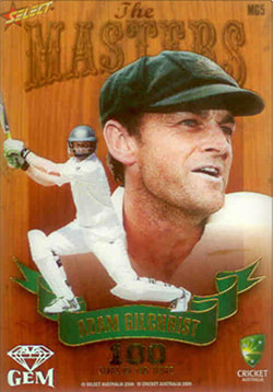 2009 / 2010 Select Cricket Masters Gem Card