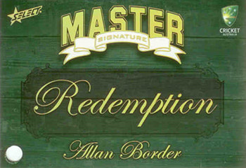 2009 / 2010 Select Cricket Masters Signature Redemption
