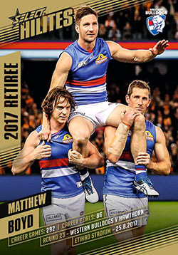 2017 Select AFL Hilites Retirement Card Mathew Boyd