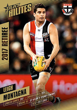 2017 Select AFL Hilites Retirement Card Leigh Montagna