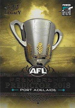 2018 Select AFL Legacy Premiership Predictor Gold Version