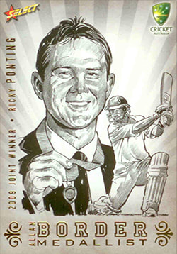 2009/2010 Select cricket Sketch Case cards