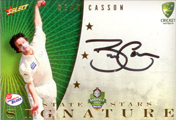 2008/09 Select Cricket State Star Signature
